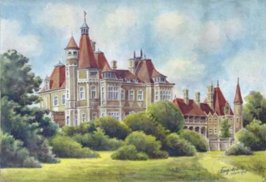 "Original, 11""x 8""signed water-colour of Normanhust Court"